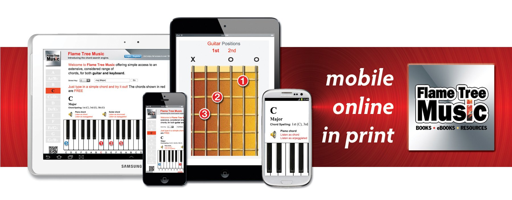 flame tree music, online, in print, mobile