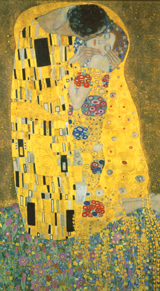 Masterpieces of art, Gustav Klimt, The Kiss