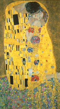 Masterpieces of art, Gustav Klimt, The Kiss