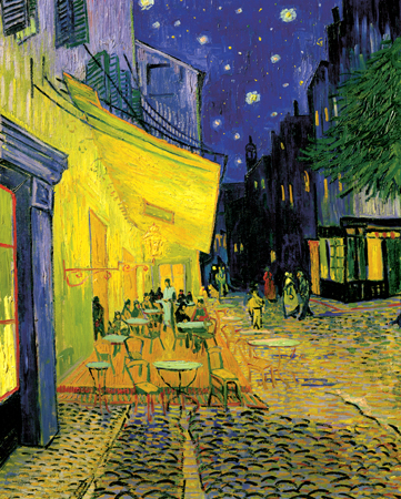 van gogh, The Café Terrace on the Place du Forum, masterpieces of art