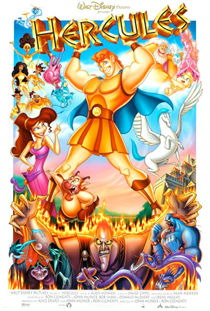 disney hercules, cartoon film, animated film,