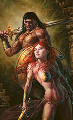 fantasy art: warriors and heroes, michael c. hayes, comrades,