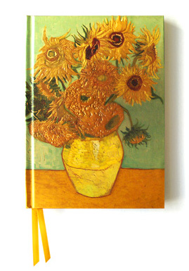 van gogh, sunflowers 3rd version, foiled notebook,