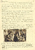 vincent van gogh letter, sketches,