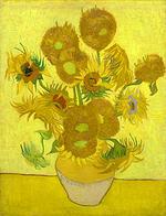 the arles sunflowers, van gogh painting,