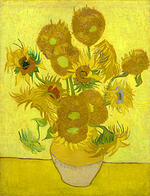 the arles sunflowers, van gogh painting,