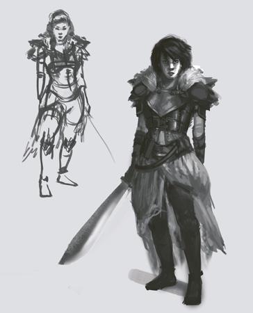 warior heroine part 1, fantasy illustration,