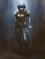 warrior stance, fantasy art guide,