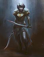 warrior battle stance, female warrior,