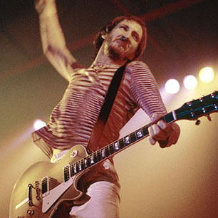 Classic Rock Bands Pete Townshend windmill colour