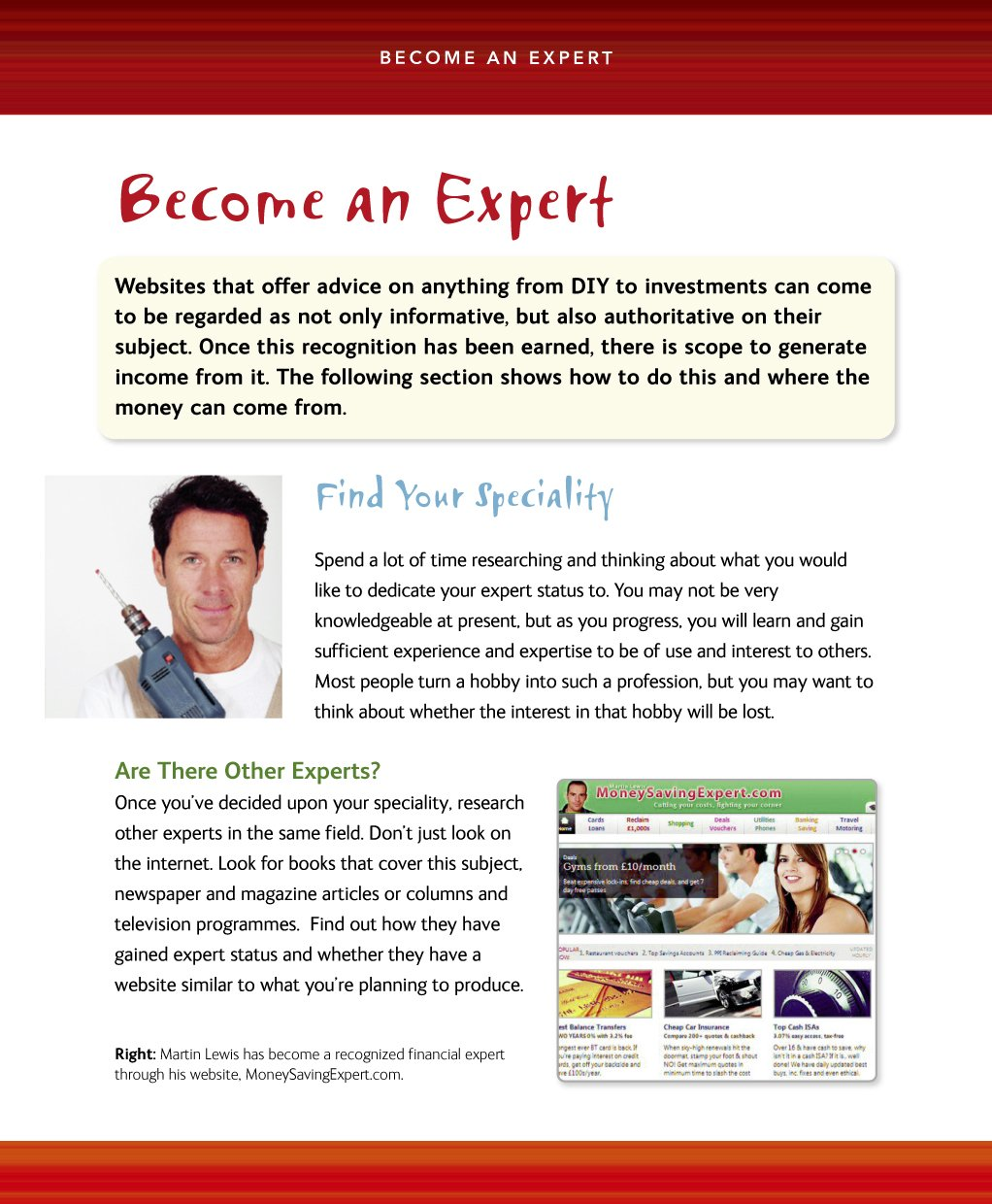 How to Make Money from Your Website. Expert Advice Made Easy inside page 01
