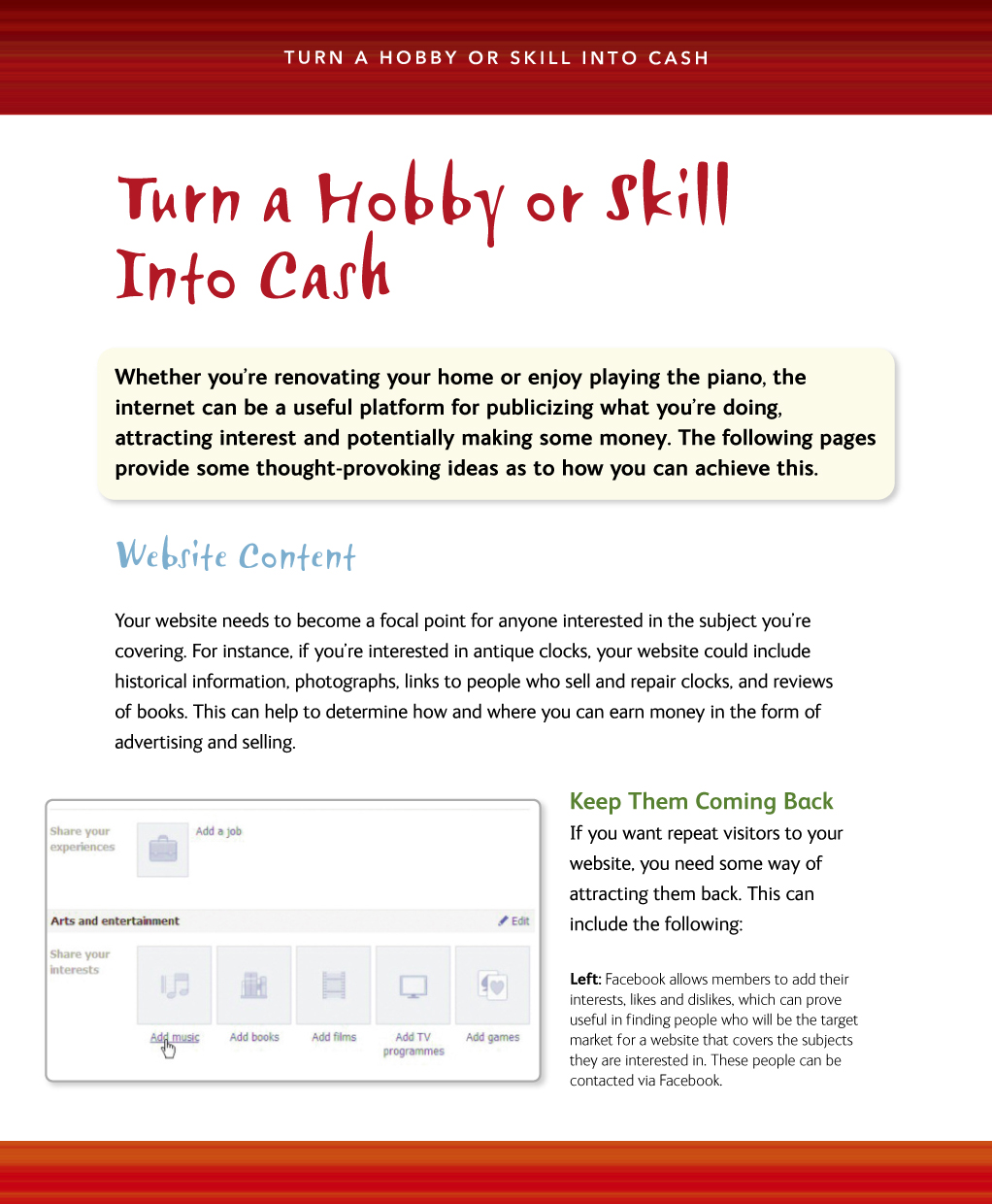 How to Make Money from Your Website. Expert Advice Made Easy inside page 03