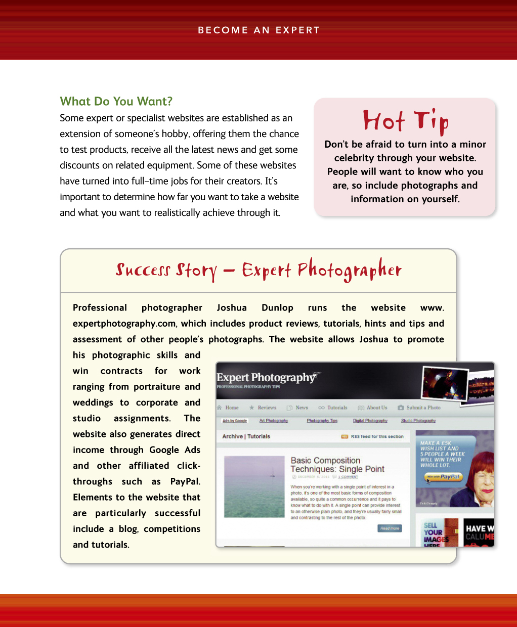 How to Make Money from Your Website. Expert Advice Made Easy inside page 02
