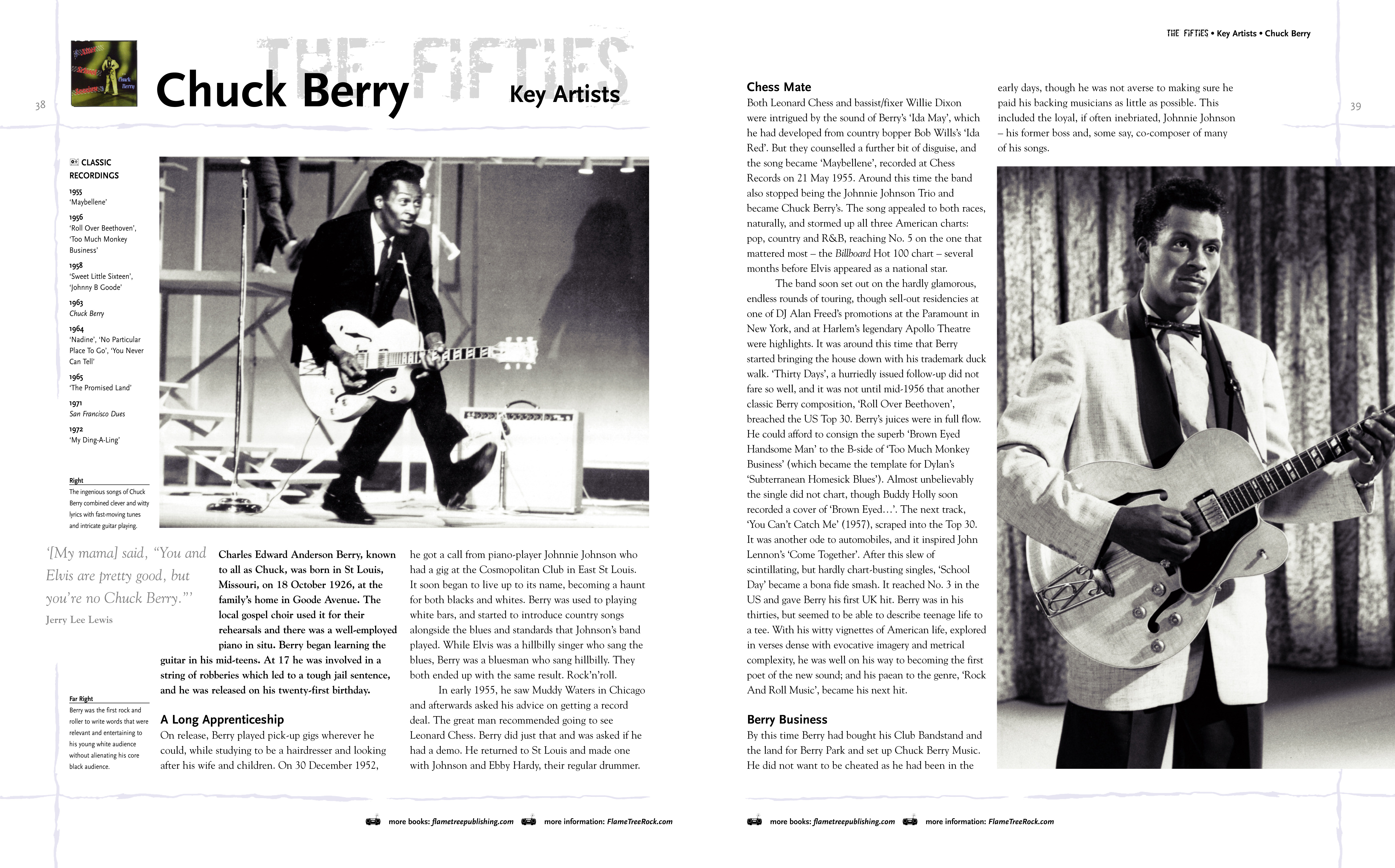 Classic Rock Bands spread, Chuck Berry
