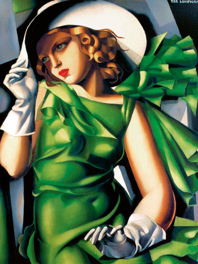Art Deco Artists: Young Girl in Green