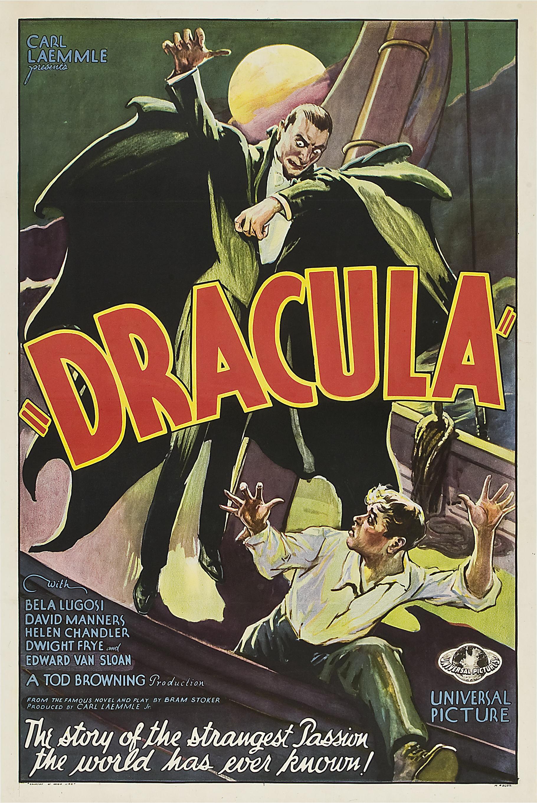dracula movie poster 1931