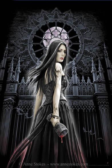 anne stokes, vampires, digital art