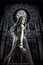 anne stokes, vampires, digital art