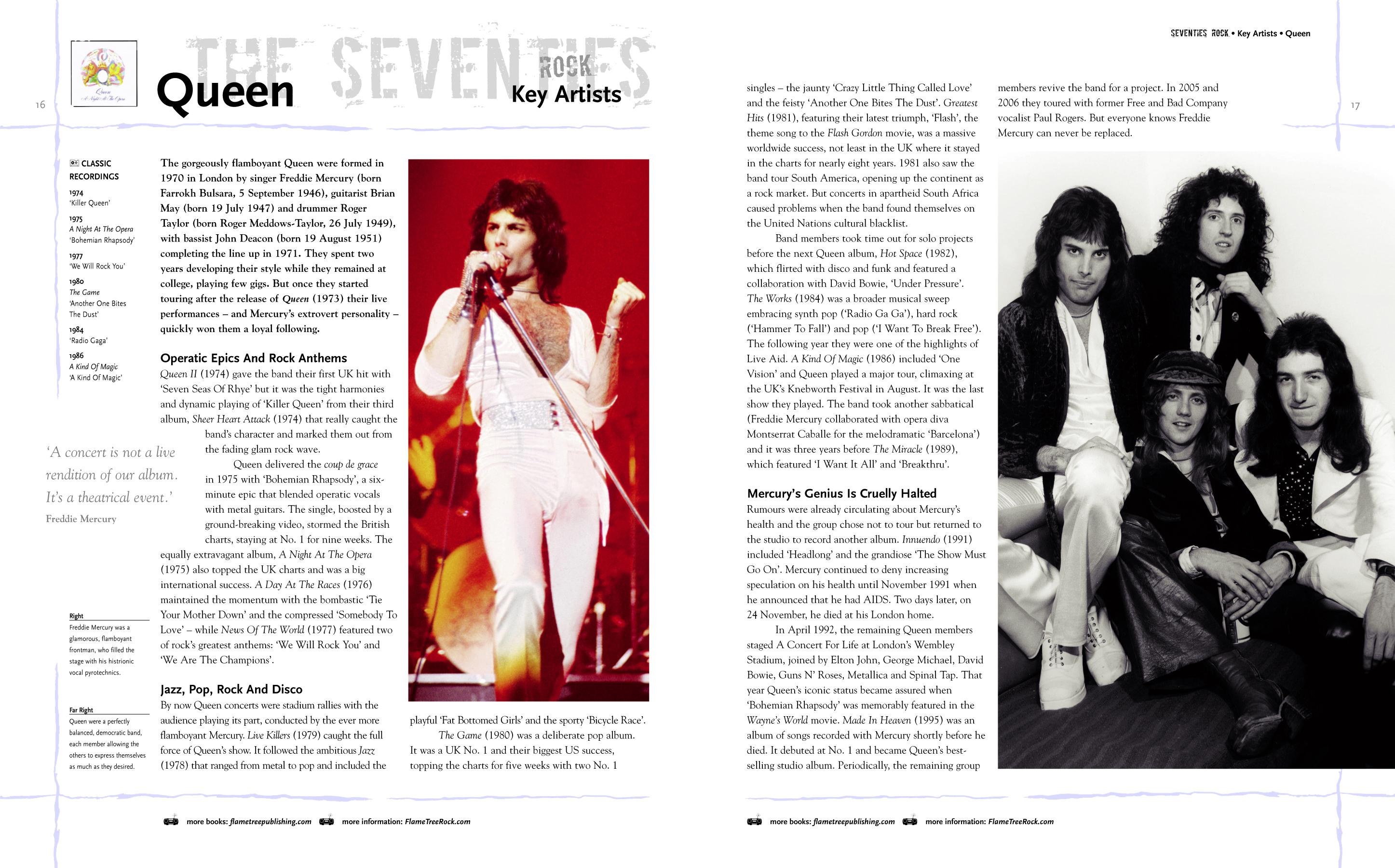 Classic Rock Bands spread,Queen