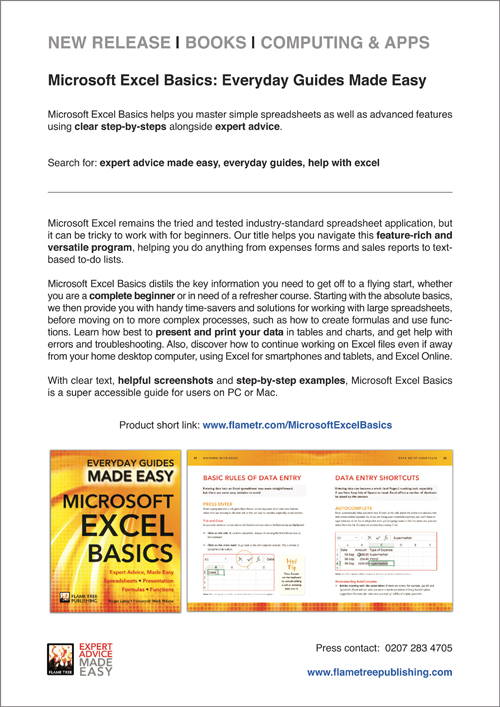 Press Release   MS Excel Basics
