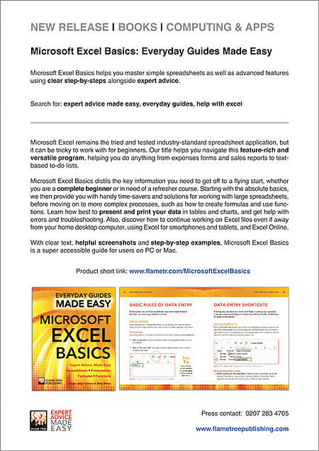 Press Release   MS Excel Basics