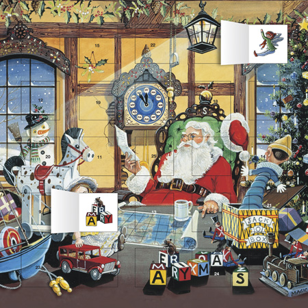 letters to santa, christmas calendars, advent calendars, art calendars,