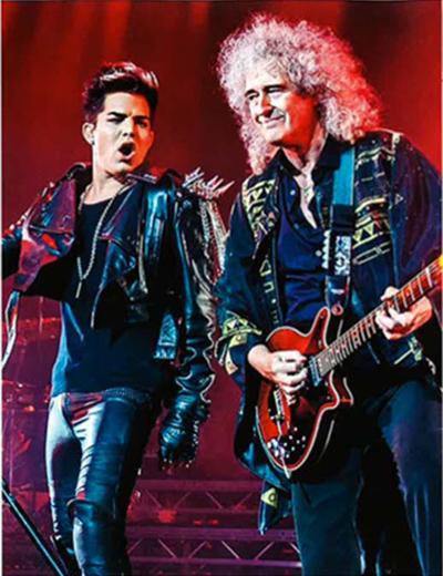 Adam Lambert Brian May 518x673