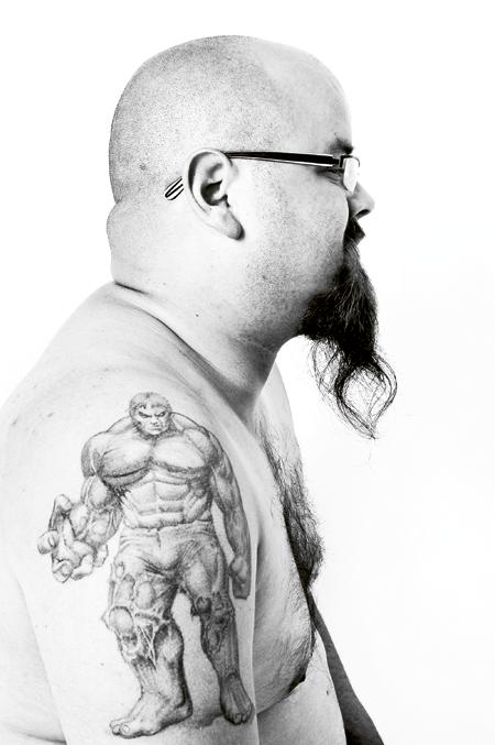 comic tattoo, fun tattoo, tattoo art, art calendar,