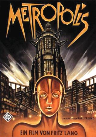 movie posters, science fiction, metropolis