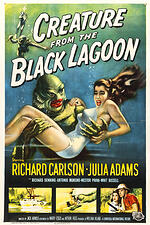 creature from the black lagoon, horror movies, b movies, fantasy art, gothic art, gothic horror