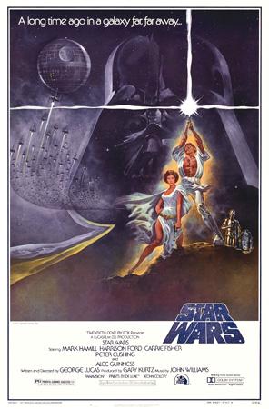 star wars episode 4, star wars poster, fantasy art, science fiction movies,