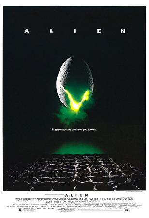 alien, ridley scott, riply, alien poster, in space no one can hear you scream,