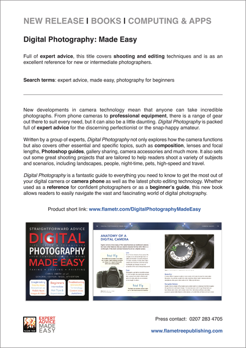 Digital Photography   Press Release