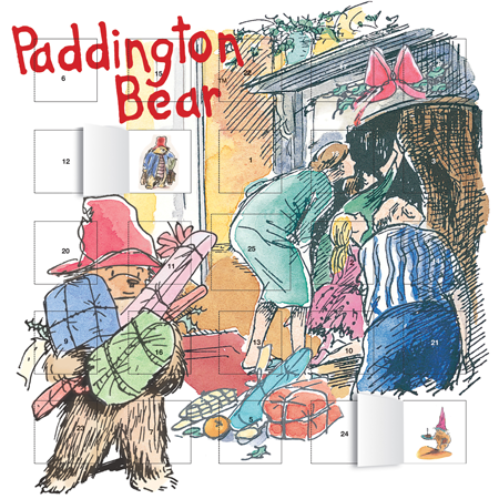 advent calendars, family advent calendars, stick advent calendars, paddington bear, art calendars,