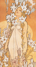 mucha, the flowers, the flowers lily, art nouveau, art of fine gifts,