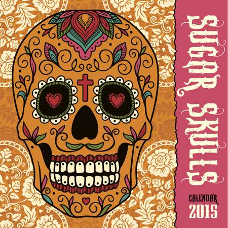 sugarskulls, art calendars, 2015 calendars, flame tree calendar,