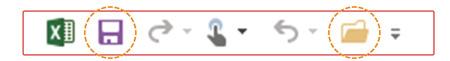 excel toolbar, excel advice,