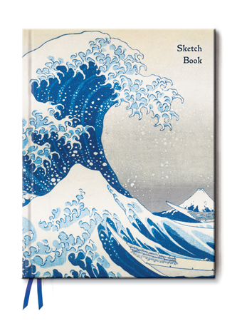 flame tree notebooks, hokusai, japanese woodblocks, the great wave, art of fine gifts,