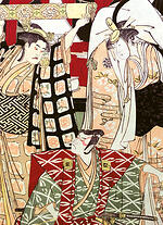 woodblock prints, torii school, bijin-ga, masterpieces of art,