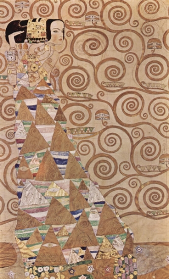 Gustav Klimt dancer expectation, egyptian motifs in stoclet frieze