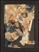 Kurt Schwitters, Picture of Spatial Growths - Picture with Two Small Dogs