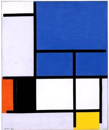 mondrian, abstract art,