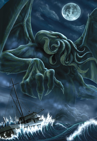 cthulhu, august derlith hp lovecraft, cthulhu mythos, gothic dreams, gothic art, fantasy art