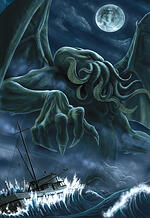 cthulhu, august derlith hp lovecraft, cthulhu mythos, gothic dreams, gothic art, fantasy art