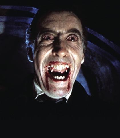 gothic horror, christopher lee