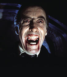 gothic horror, christopher lee
