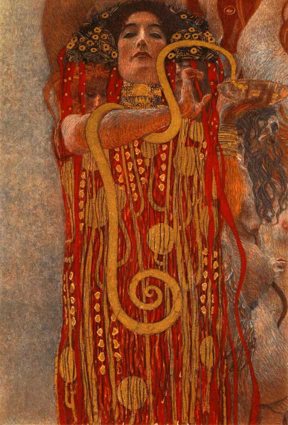 art nouveau artists, Hygieia