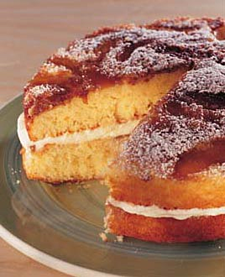 simple recipes, apple toffee cake