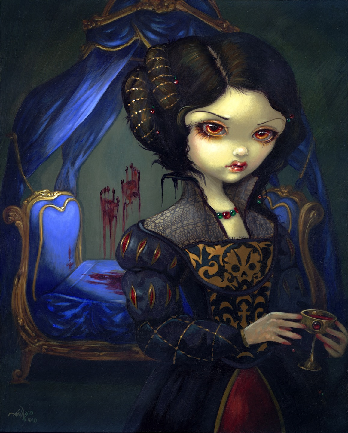 Gothic Fantasy Art - I Vampiri Bellissimo Letto by Jasmine Becket-Griffith