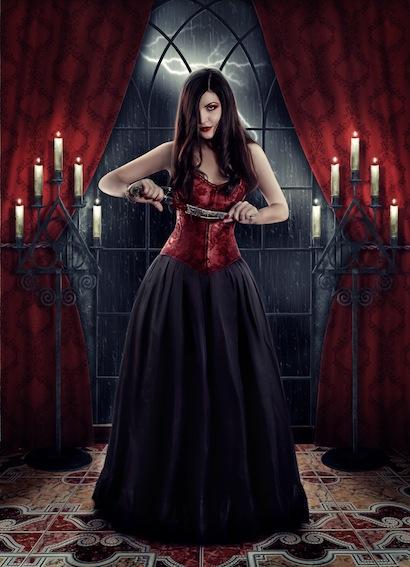 Gothic Fantasy Art - Vampire by Larina Boyarskaya
